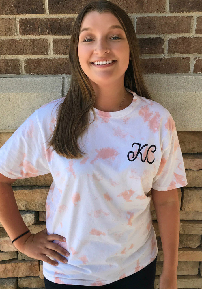 Kansas City Women's Rose Quartz Tie Dye Wordmark Short Sleeve T Shirt - Image 4