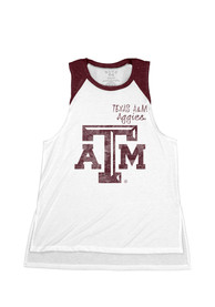 Texas A&M Aggies Juniors White Cahoots Tank Top