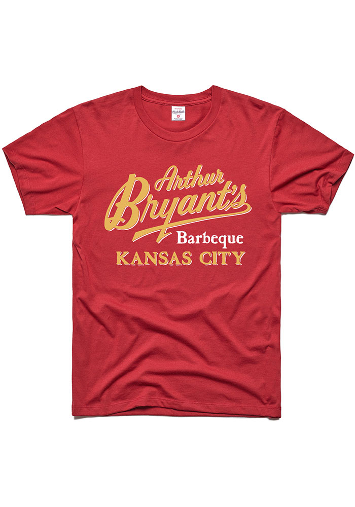 Charlie Hustle Kansas City Cardinal BBQ Short Sleeve T Shirt - Image 1