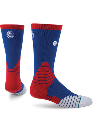 Stance Philadelphia 76ers Mens White On Court Core Crew Socks