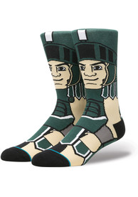 Stance Michigan State Spartans Mens Green Mascot Crew Socks