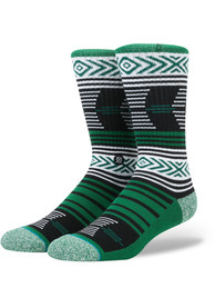 Stance Michigan State Spartans Mens Green Mazed Crew Socks
