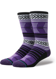 Stance TCU Horned Frogs Mens Purple Mazed Crew Socks