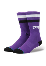 Stance TCU Horned Frogs Mens Purple Classic Crew Socks