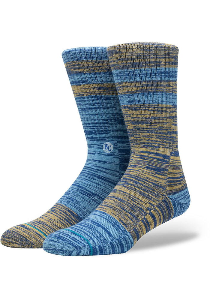 Kansas City Royals Stance Greystone Crew Socks - Blue