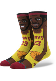 Stance Cleveland Cavaliers Mens Yellow Legends Crew Socks