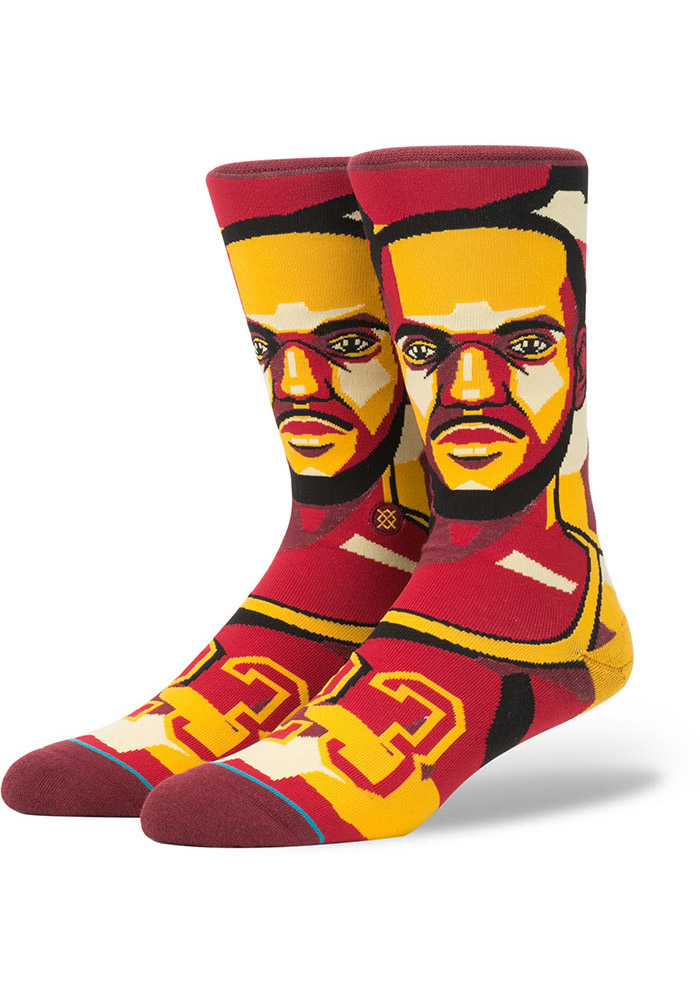 LeBron James Cleveland Cavaliers Future Legends Mens Crew Socks - Image 1