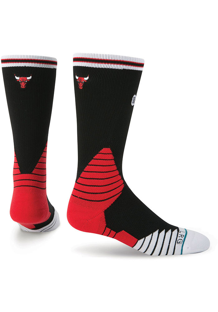 Chicago Bulls Stance On Court Collection Mens Crew Socks - Image 1