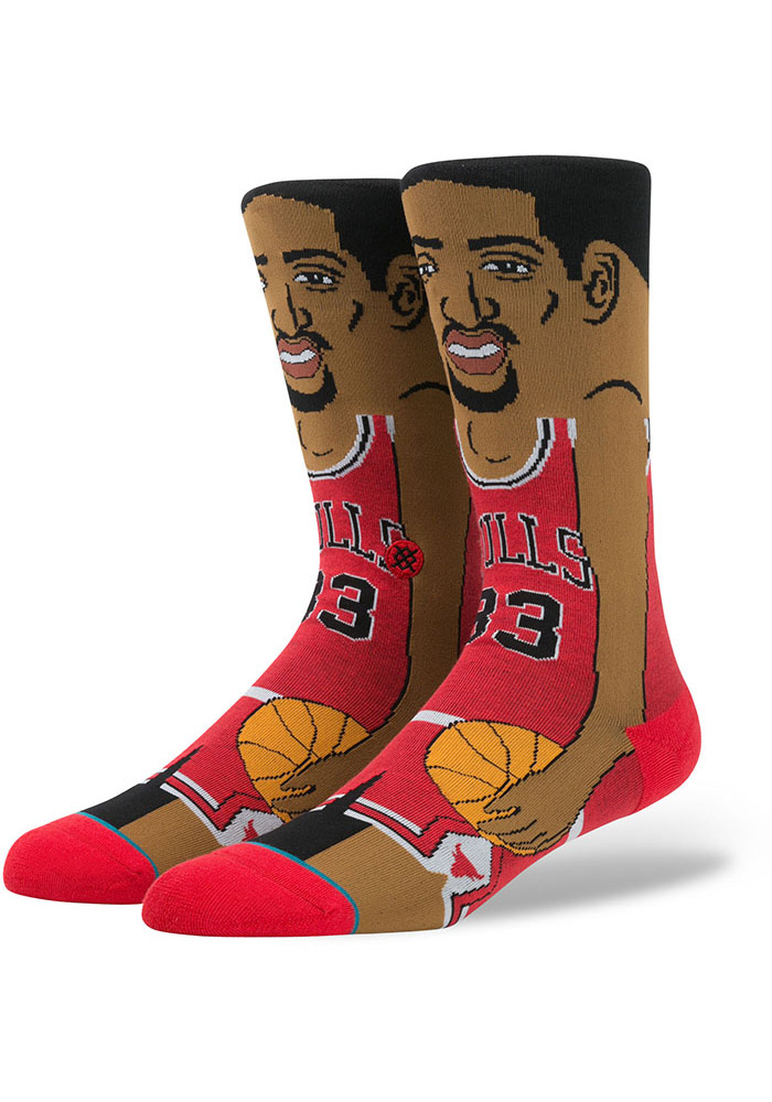 Scottie Pippen Chicago Bulls Legends Mens Crew Socks - Image 1