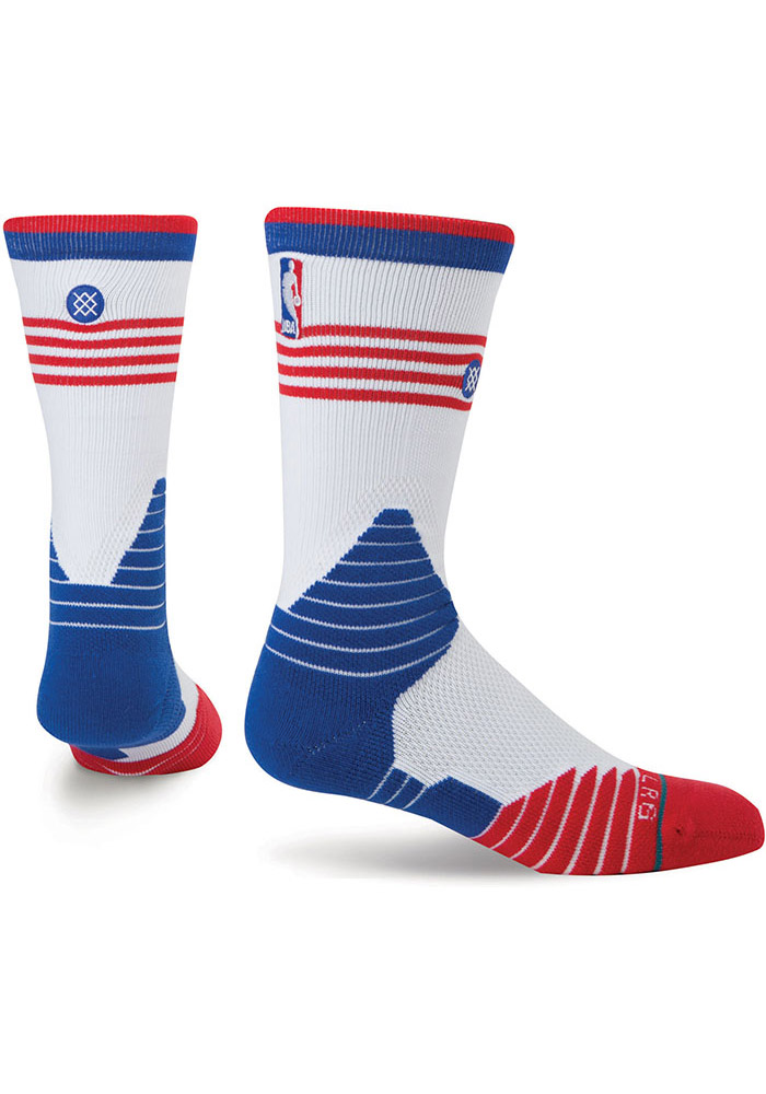 Detroit Pistons Stance On Court Collection Mens Crew Socks - Image 1