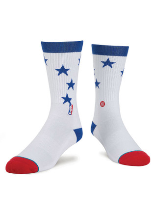 Stance Philadelphia 76ers Mens White Arena Collection Crew Socks