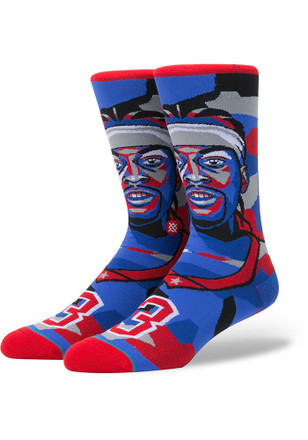 Allen Iverson Philadelphia 76ers Mens Red Legends Crew Socks