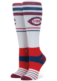 Stance Chicago Cubs Womens Red Stadium Knee Socks