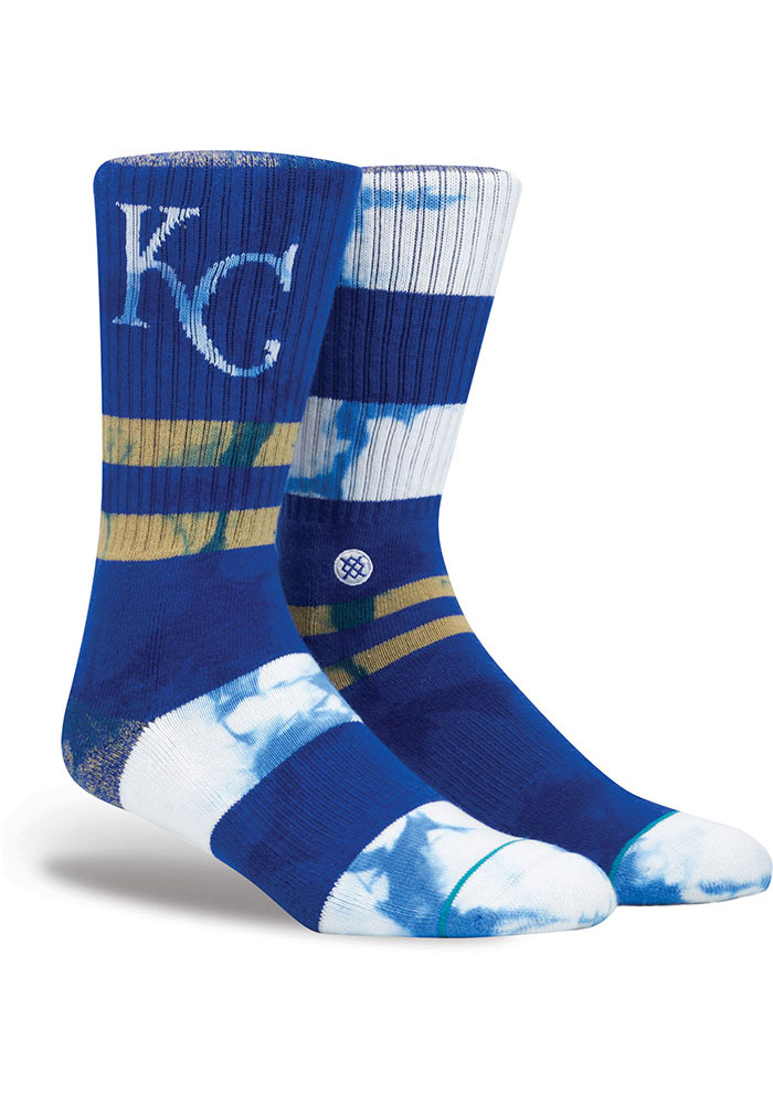 Stance Kansas City Royals Mens Blue Retro Collection Crew Socks