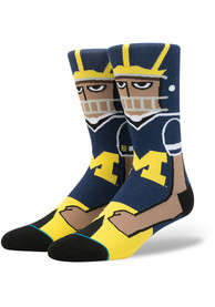 Stance Michigan Wolverines Mens Yellow Lifestyle Product Crew Socks