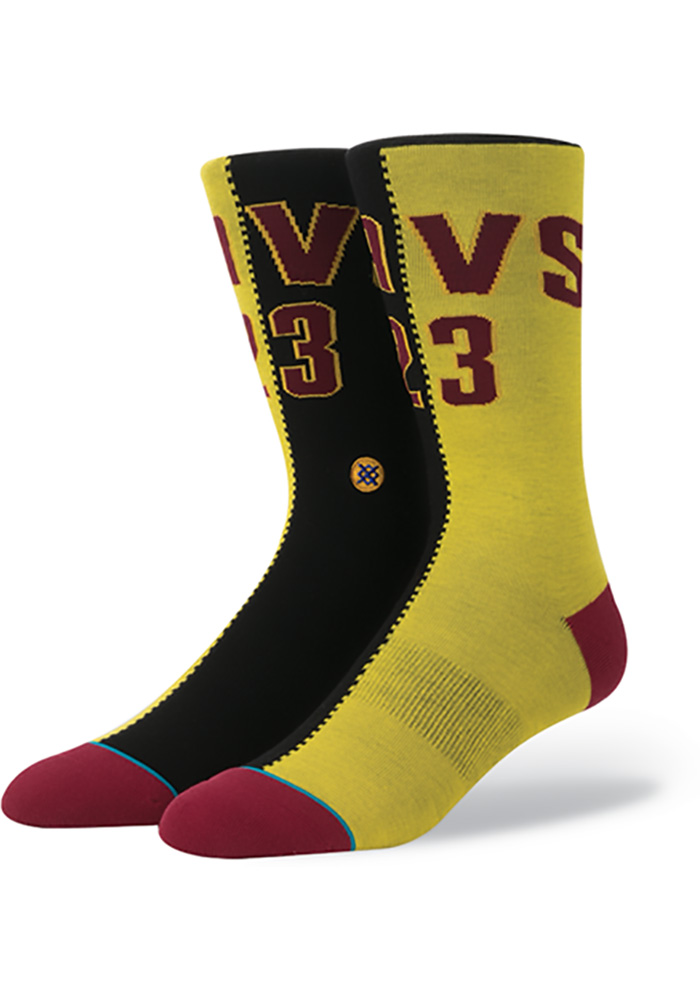 LeBron James Cleveland Cavaliers NBA Legends Mens Crew Socks - Image 1