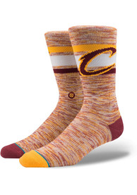 Stance Cleveland Cavaliers Mens Burgundy NBA Arena Collection Crew Socks
