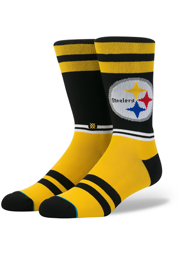 Pittsburgh Steelers Stance Sideline Mens Crew Socks - Image 1