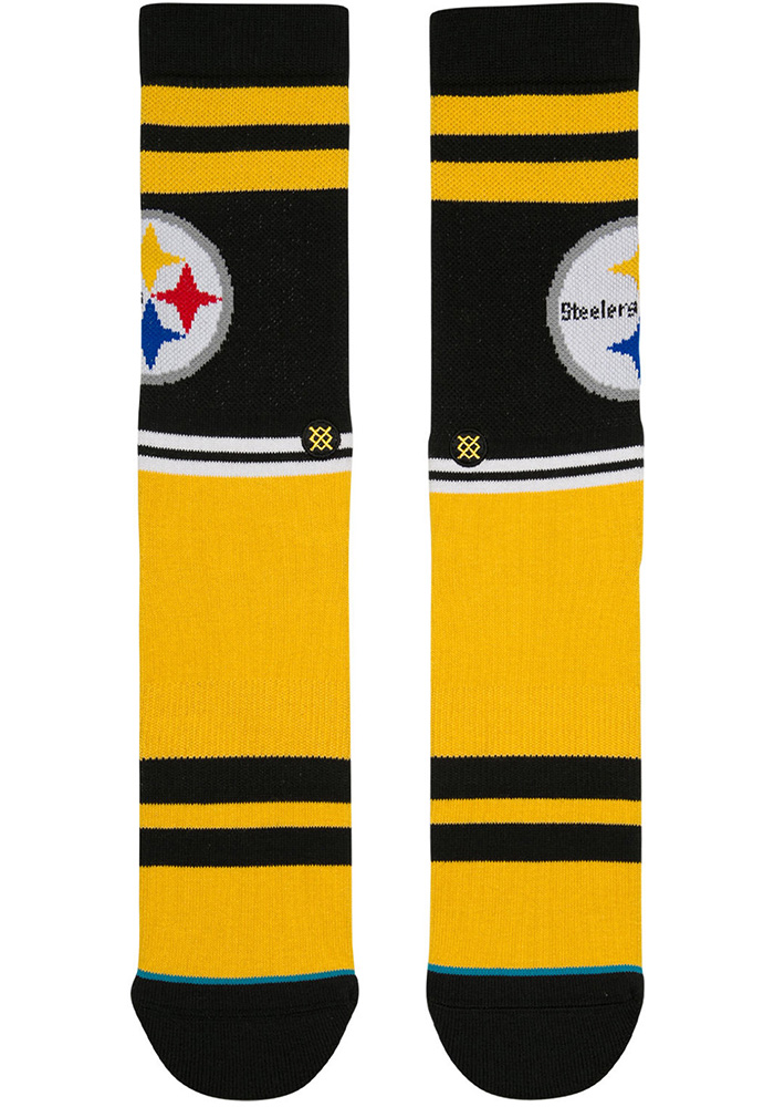 Pittsburgh Steelers Stance Sideline Mens Crew Socks - Image 2