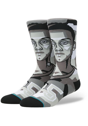 Ben Simmons Philadelphia 76ers Mens Grey NBA Future Legends Crew Socks