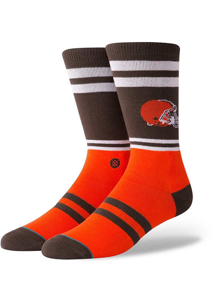 cleveland browns youth fuzzy socks