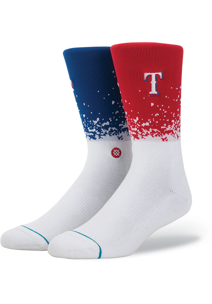 Texas Rangers Stance Fade Mens Crew Socks - Image 1