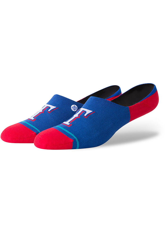Stance Texas Rangers Super Invisible Mens No Show Socks - Image 1