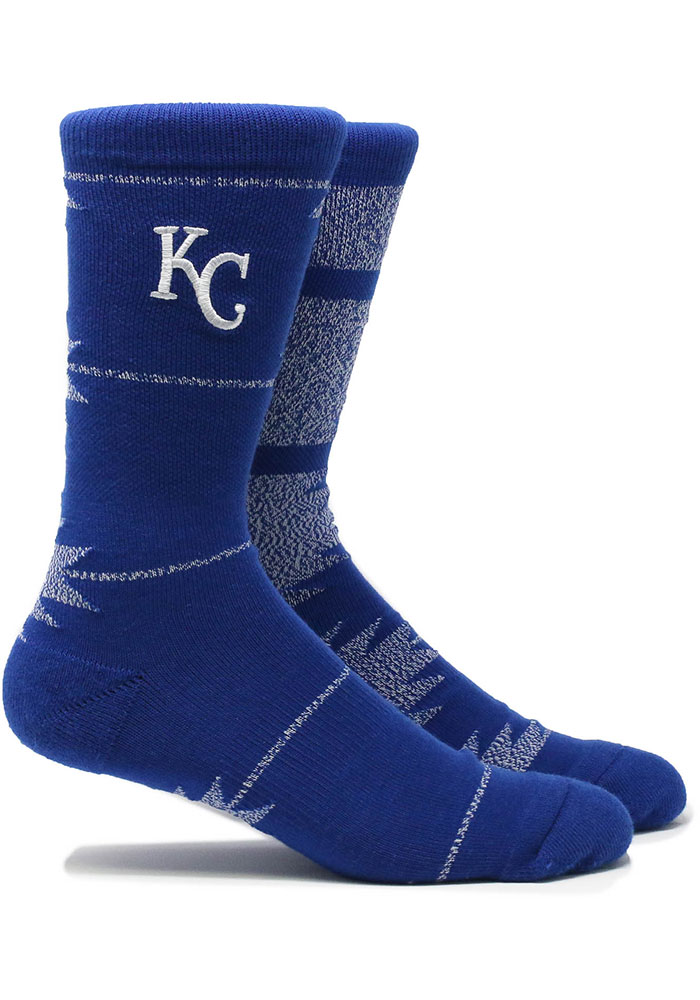 Kansas City Royals Geo Mens Crew Socks - Image 1