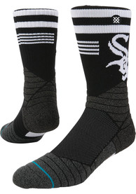 Stance Chicago White Sox Mens Black Diamond Pro Crew Socks