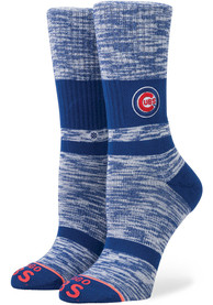 Stance Chicago Cubs Womens Blue Fuzzy Classic Crew Socks