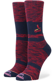 Stance St Louis Cardinals Womens Red Fuzzy Classic Crew Socks