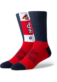 Stance St Louis Cardinals Mens Red Pop Fly Dress Socks