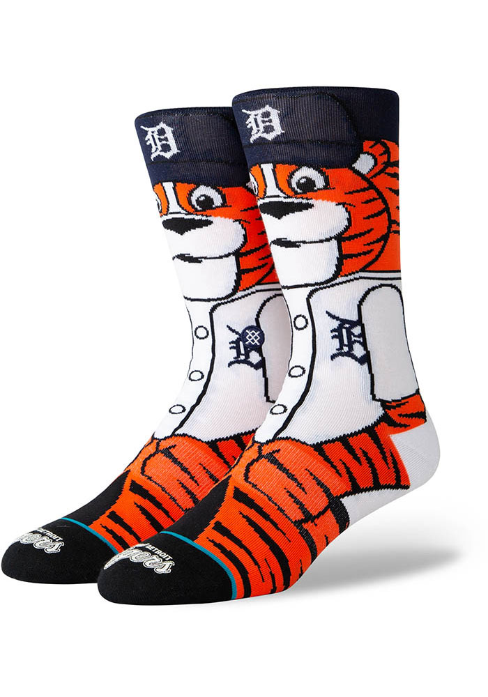Stance Detroit Tigers Orange Paws the Tiger Youth Crew Socks - Image 1
