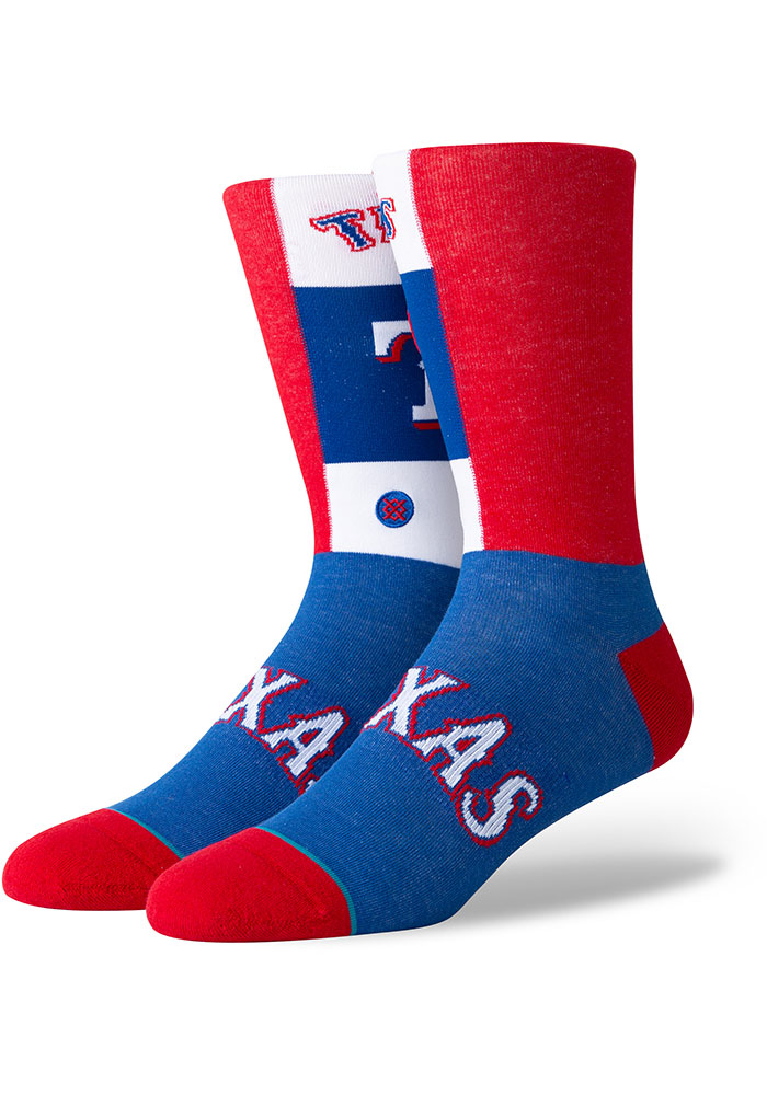 Texas Rangers Pop Fly Mens Dress Socks - Image 1