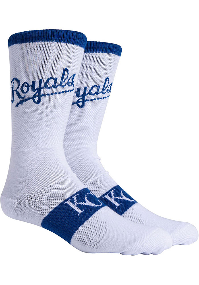 Kansas City Royals Mens White Uniform Crew Socks