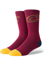 Stance Cleveland Cavaliers Mens Red Jersey Crew Socks