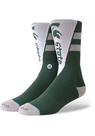 Stance Michigan State Spartans Mens Green Pennant Crew Socks