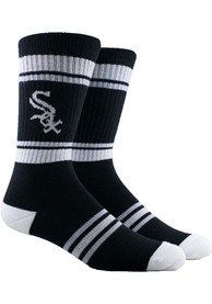 Chicago White Sox Mens White Stripe Crew Socks