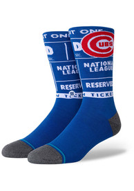 Chicago Cubs Stance Ticket Stub Crew Socks - White