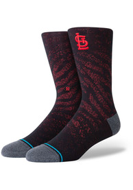 St Louis Cardinals Stance Mesh Crew Socks - Red