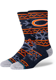 Chicago Bears Stance Frosted Crew Socks - Navy Blue