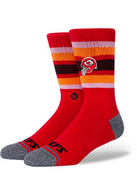 Kansas City Chiefs Stance Backfield Crew Socks - Red