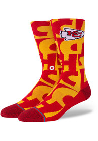 Kansas City Chiefs Stance Branded Crew Socks - Red