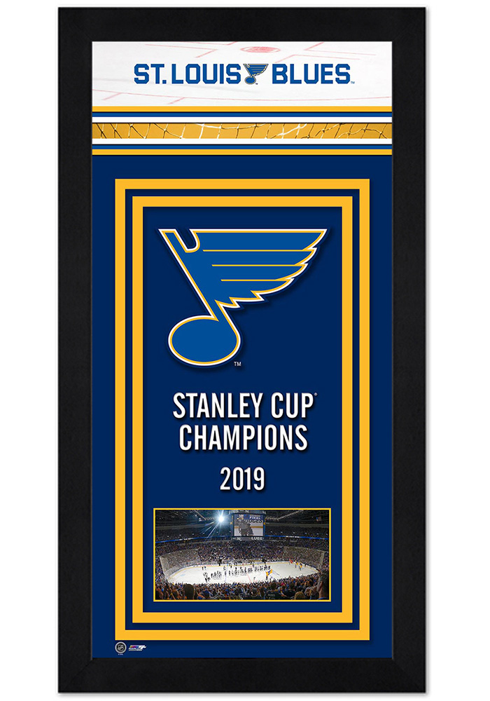 St Louis Blues Miniframe Champions Bracket Framed Posters - Image 1
