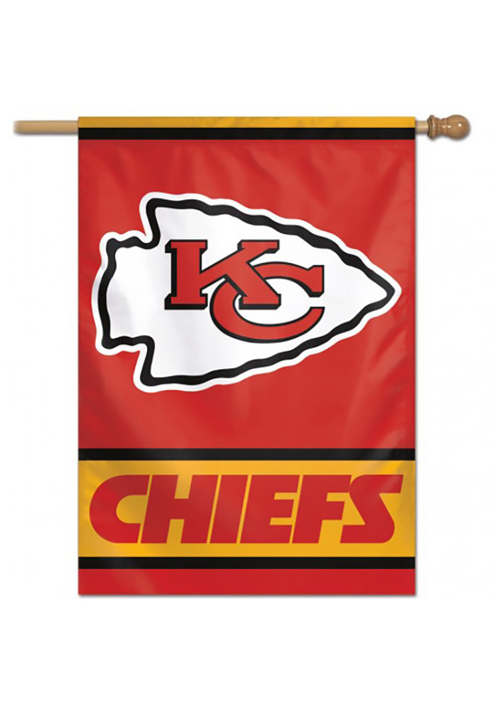 Kansas City Chiefs 28x40 Red Silk Screen Banner - Image 1