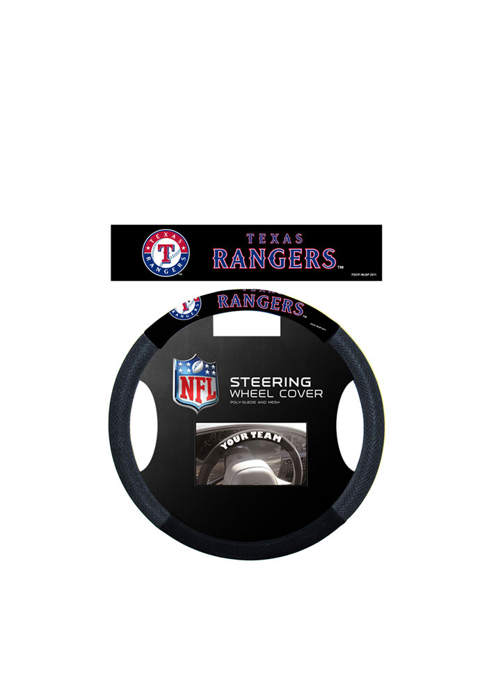 Texas Rangers Team Logo Auto Steering Wheel Cover - Image 1