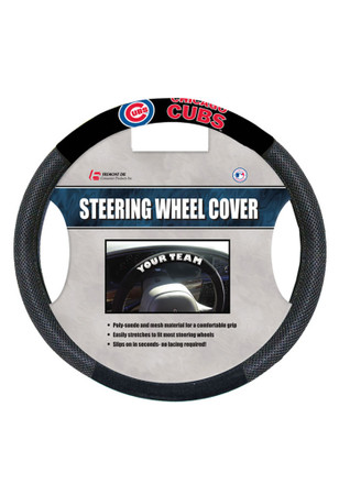 Chicago Cubs Poly-Suede Auto Steering Wheel Cover