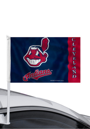 Cleveland Indians Chief Wahoo Logo Car Flag