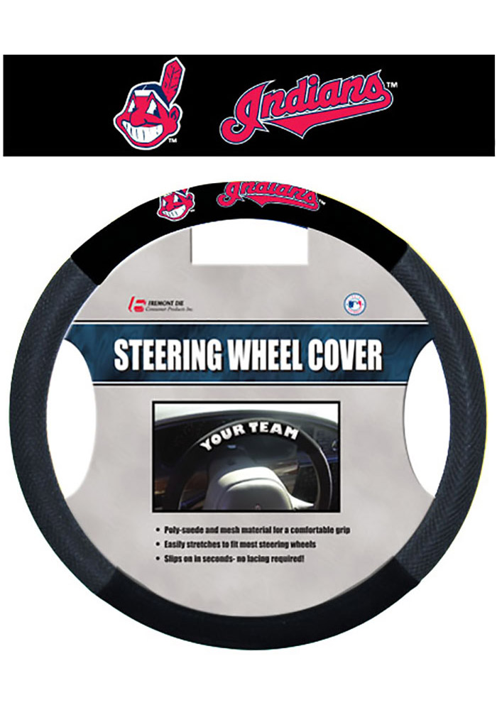 Cleveland Indians Team Logo Auto Steering Wheel Cover - Image 1