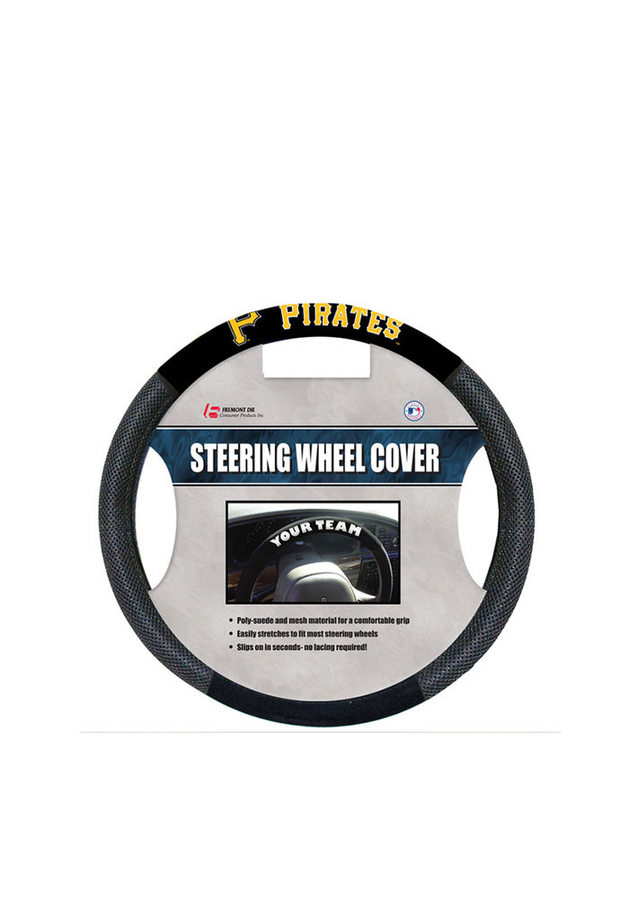 Pittsburgh Pirates Poly-Suede Auto Steering Wheel Cover - Image 1